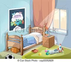 dessin chambre childrens illustration dessin animé vecteur chambre à