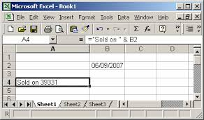 format date in excel 2007 ms excel 2003 format the display of a date value in concatenated text