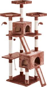 frisco 72 inch cat tree brown chewy