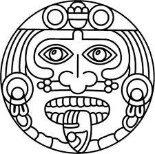 aztec symbol of god coloring pages bulk color