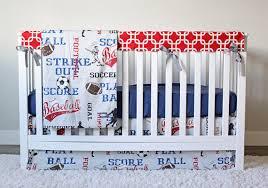 sports crib bedding soccer football baseball bedding set