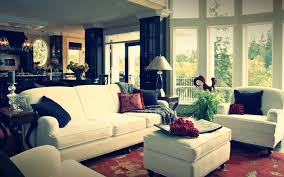 Simple Black And White Lounge Pics White Lounge With Red And Black Cushions Plus Glass Chair And
