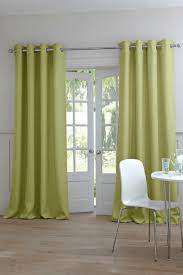 shop green polyester grommeted outdoor curtain x idolza