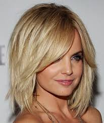 celebrity haircuts blonde medium bob with layers hair