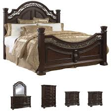 king poster bedroom sets king size bed offers inexpensive bedroom bedroom furniture tuscany 6 piece mocha finish king size bedroom set overstock com