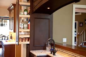 Liquor Bar Cabinet Hidden Liquor Cabinet Kitchen Traditional With Bar Copper Hammered