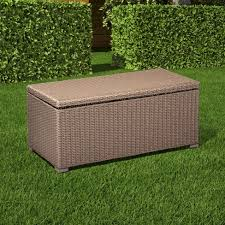 storage trunk coffee table heatherstone wicker patio storage trunk coffee table threshold