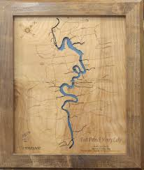 Norris Lake Tennessee Map by Norris Lake Map Tennessee Laser Engraved