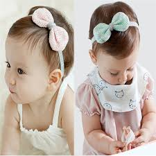 best hair accessories best selling new tinsel headbands elastic lace bowknot hair
