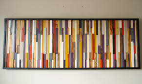 reclaimed wood wall sculpture 3d framed painted wood pieces