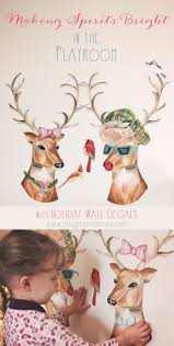 making spirits bright in the playroom with holiday wall decals