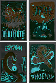glow in the dark poster fpo monster friends series 2 posters
