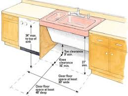 ada kitchen sink requirements image result for ada height sink in kitchen lambertville