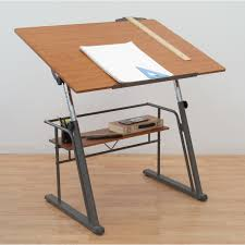 Wooden Drafting Table Furniture Mayline Drafting Table Drafting Table With Drawers