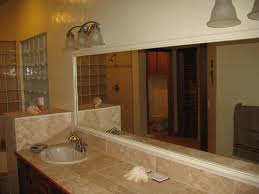 southern bathroom ideas gray wall paint bathtub mirror granite countertop mounted