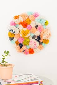 diy pom pom wall hang sugar u0026 cloth home decor diy