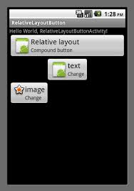 text android creating android button with image and text using relative layout