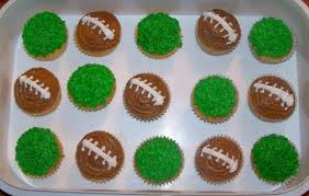 football cupcakes cupcakes made with pretzel goal posts boys football party