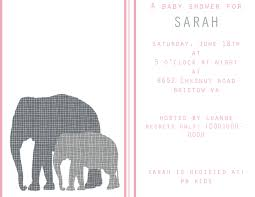 photo elephant baby shower invitations image
