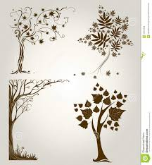 designs with decorative tree from leafs stock vector image 15910559