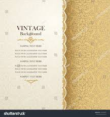 post card invitation vintage background antique greeting card invitation stock vector