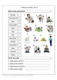 jobs related activities work pinterest activities english