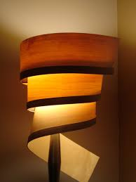 Unique Table Lamps Amazing Wood Veneer Lampshade Maple Ash Material Unique Table Lamp