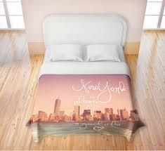 New Bed Sets New York City Skyline Bedding Nyc Themed Bedroom Ideas