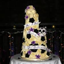 skull wedding cakes till us do part till us do part wedding cake