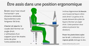 position assise bureau bureau ergonomique s asseoir correctement pour lutter contre le