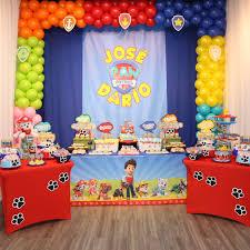 imagenes cumpleaños niños tema paw patrol cumpleaños de niños fiestas infantiles