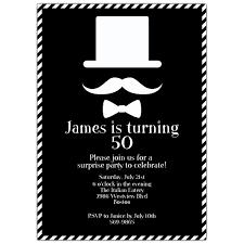 birthday invitation card 50th birthday invitations for him