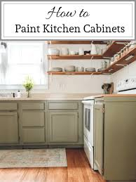 how to paint kitchen cabinets step by step our painted kitchen cabinets the by home