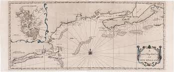 Map Of Boston Harbor by Cyprian Southack U0027s Chart Of The New England Coast Rare U0026 Antique