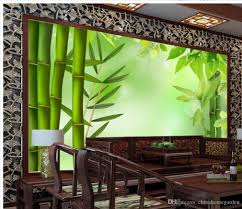 high quality customize size modern 3d bamboo background wall mural see larger image