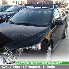 Car Top Carrier Cross Bars Roof Rack Cross Bars And Wind Fairing For 2011 Mitsubishi Lancer