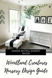 Simple Nursery Decor Woodland Creatures Nursery Decor For Baby Boy Or