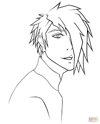 anime japanese boy coloring page free printable coloring pages