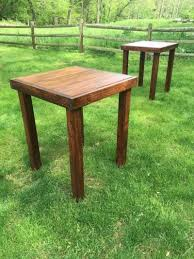 cocktail tables for rent farmhouse table rentals for weddings showers or any special occasion
