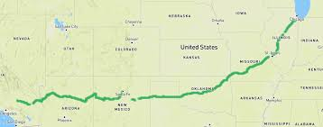 Route 66 Map The Route 66 On A Bicycle Do It Now Don U0027t Wait Too Long The