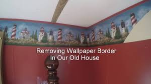 taking down wallpaper border youtube