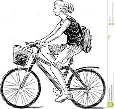 drawn bike riding bicycle pencil and in color drawn bike riding
