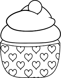 baby cupcake heart coloring page wecoloringpage