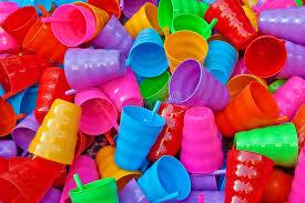 plastic ware plasticware many colorful plastic cups stock photo image of