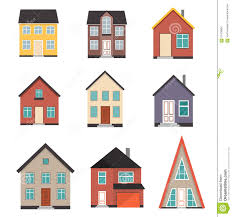 flat house icon set stock vector image of element factory 67476964