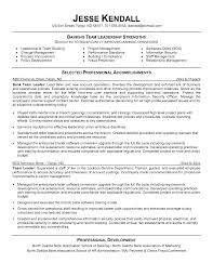 Targeted Resume Examples by Target Group Leader Sample Resume Perfect Attendance Certificate