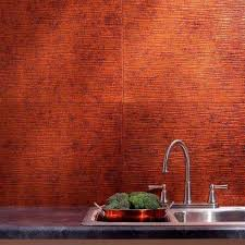 Moonstone Copper Backsplashes Countertops  Backsplashes The - Copper tiles backsplash