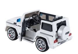 mercedes jeep white ride on mercedes g wagon amg rc truck power wheels style parenta