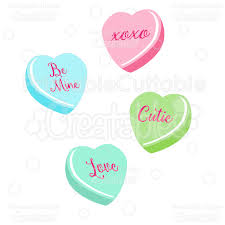 candy hearts s candy hearts svg cut files clipart