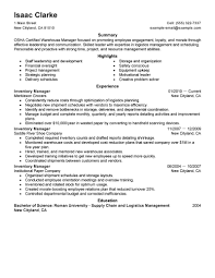 Best Warehouse Resume by Warehouse Manager Resume Skills Free Resume Example And Writing